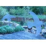 Vtáčie siluety na sklo s priehľadnými pruhmi biela 9 ks