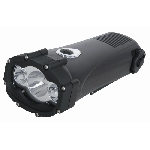 SHARK Vodotesné dynamo LED svietidlo nabíjačka