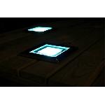 Solární podlahové osvětlení čtvercové