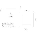 Solárne podlahové osvetlenie štvorcové