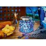 Solární mozaiková modrá LED lampa