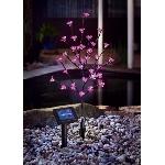 Solárny svetelný strom ružové kvety