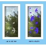UV samolepky siluety 9 ks (snímateľné)