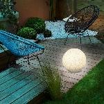 Solární zahradní koule Esotec Mega Stones 106020 30cm kamenná