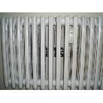Termík ventilátor na litinový žebrový radiátor 4 ventilátory