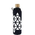 Drink it Skleněná láhev s neoprénovým obalem Triangl 350ml