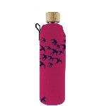 Drink it Skleněná láhev s neoprénovým obalem Vlaštovky 350ml