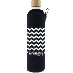 Drink it Skleněná láhev s neoprénovým obalem Cik Cak 500ml
