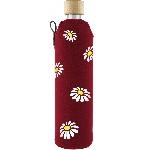 Drink it Sklenená fľaša s neoprénovým obalom Margarétky 500ml