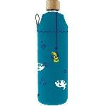 Drink it Skleněná láhev s neoprénovým obalem Piraně 700ml
