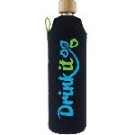 Drink it Skleněná láhev s neoprénovým obalem Sportit 700ml
