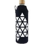 Drink it Skleněná láhev s neoprénovým obalem Triangl 700ml