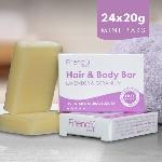Friendly Soap prírodné mydlo pre hostí na telo i vlasy levanduľa a pelargónie 24x 20g