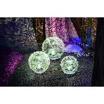 Solární stolová koule Esotec Glas 102082 balení 3 kusů