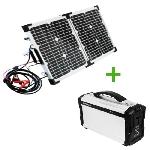 Sada skladateľný solárny panel POWERplus Python 40W a záložný zdroj Cayman 60Ah 220Wh