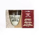 The Greatest Candle sada 1x sviečka 130 g a 2x náplň drevo a korenie