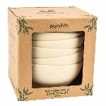 Pandoo Bambusová miska sada 6 ks bílá