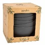 Pandoo Bambusová miska sada 6 ks černá