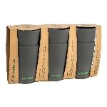 Pandoo Bambusový kelímek 390 ml sada 6 ks černý