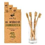 Pandoo Bambusová kefka Medium Soft sada 4 ks