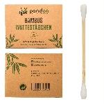 Pandoo Bambusové vatové tyčinky do uší s bio bavlnou 200 ks