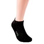 Pandoo Sneaker nízké bambusové ponožky 6 párů černé velikost 39 až 42