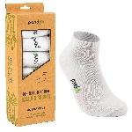 Pandoo Sneaker nízké bambusové ponožky 6 párů bílé velikost 39 až 42