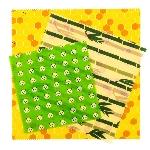 Pandoo Opakovaně použitelný obal s včelím voskem 3 ks