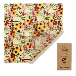 The Beeswax Wrap Opakovane použiteľný obal s včelím voskom na chleba Floral 1 ks