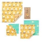 The Beeswax Wrap Opakovaně použitelný obal s včelím voskem Velký set Bee Hive 5 ks