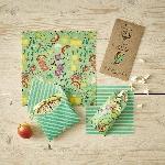 The Beeswax Wrap Opakovaně použitelný obal s včelím voskem dětský svačinový set Playground Game 4 ks