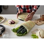 The Vegan Food Wraps Opakovane použiteľný obal s rastlinným voskom Stredný set 3 ks