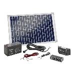 Esotec Solární sada s USB,  20Wp solárním modulem, akumulátorem a regulátorem