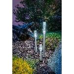Esotec Solární sloupkové dekorační osvětlení Trio Sticks 102600 sada 3ks studená bílá