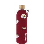 Drink it Skleněná láhev s neoprénovým obalem Kopretiny 350ml