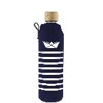 Drink it Skleněná láhev s neoprénovým obalem Námořník 350ml