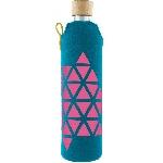 Drink it Skleněná láhev s neoprénovým obalem Polygonka 500ml