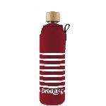 Drink it Skleněná láhev s neoprénovým obalem Rozmarné léto 350ml
