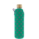 Drink it Skleněná láhev s neoprénovým obalem Bublinka 350ml