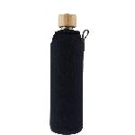 Drink it Skleněná láhev s neoprénovým obalem Asketa Černej 350ml
