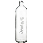 Drink it Skleněná láhev s neoprénovým obalem Asketa Černej 700ml