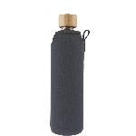 Drink it Skleněná láhev s neoprénovým obalem Asketa Šedej 350ml