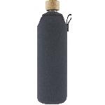 Drink it Skleněná láhev s neoprénovým obalem Asketa Šedej 700ml