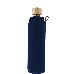 Drink it Skleněná láhev s neoprénovým obalem Asketa Modrej 350ml