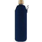 Drink it Skleněná láhev s neoprénovým obalem Asketa Modrej 700ml