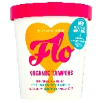 FLO menstruační tampony z bio bavlny s eko aplikátorem mix 8 ks Regular a 6 ks Super