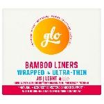 GLO Ultra tenké inkontinenčné slipové vložky z bio bambusu Light 16 ks