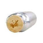Pandoo Nerezová lahev na vodu s bambusovým víčkem 750 ml