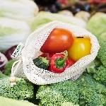 Pandoo Sieťový sáčok z bio bavlny na ovocie a zeleninu set 3 ks