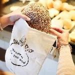 Pandoo Síťový sáček z bio bavlny na ovoce, zeleninu a chleba set 7 ks